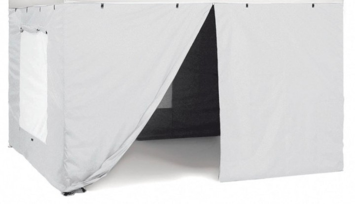 Seitenteilset für Faltpavillon Zebò Classic Alu/Hybrid 3 x 6 m blau