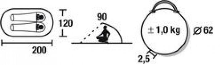 Strandmuschel Calobra 200 x 120 x 90 cm