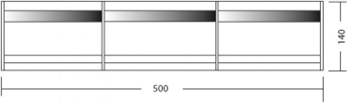Outwell Windschutz 500 x 140 cm grün
