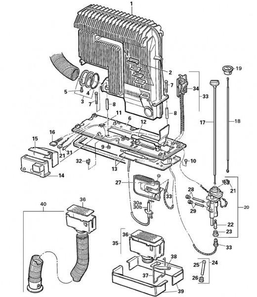 Zündbrennerrohr 30 mbar für S 3002 (P) ab Bj. 04/1993