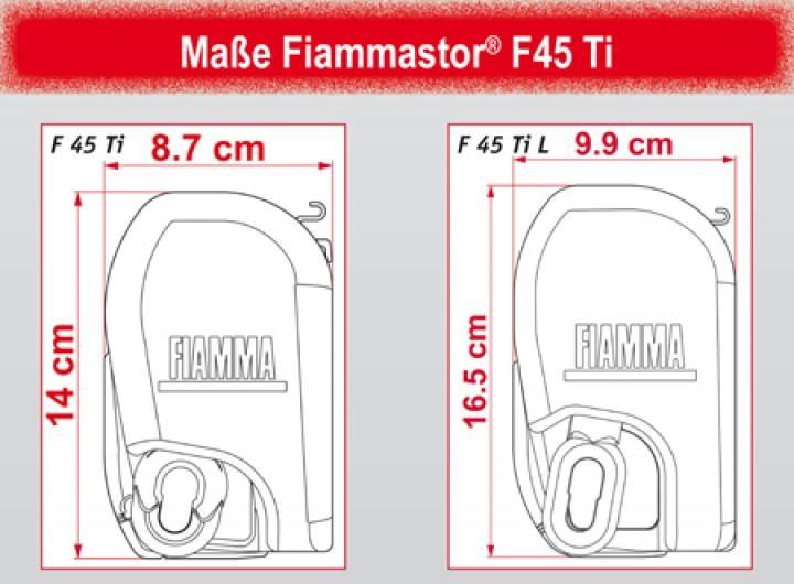 Fiammastore F45 Ti L 550 Blue Ocean Gehäuse Polarweiß