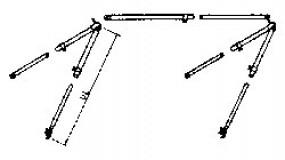 Markisengestänge aus Alu Rohr 18 mm teleskopierbar