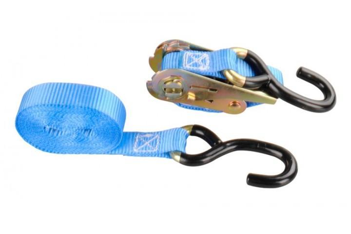 Zurrband 2.-tlg. mit Ratsche 4 m x 25 mm blau