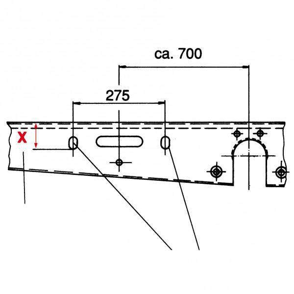 ALKO-Ersatzradhalter - EH 1 / D 1265-1515 mm