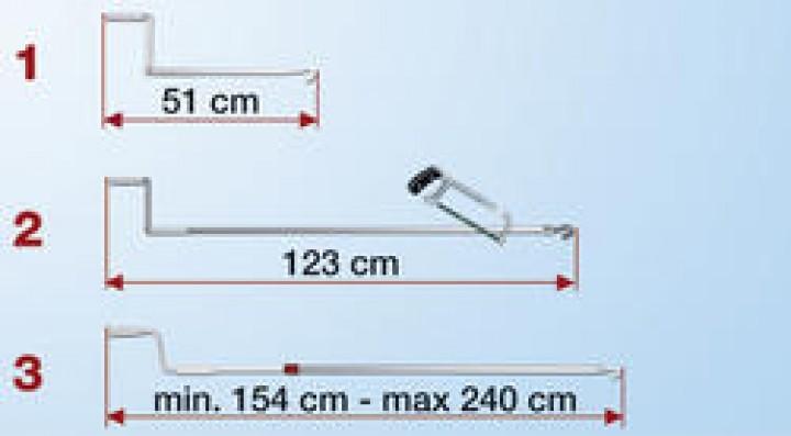 Fiamma Markisen Aluminium Handkurbel 154-240 cm