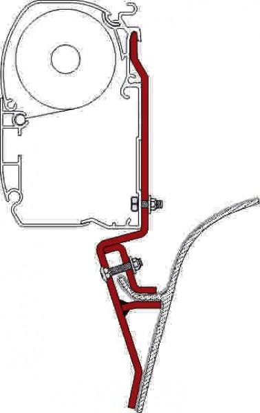 Fiamma Adapter F45i VAN Ford Transit Mercdes Sprinter 208 D KB