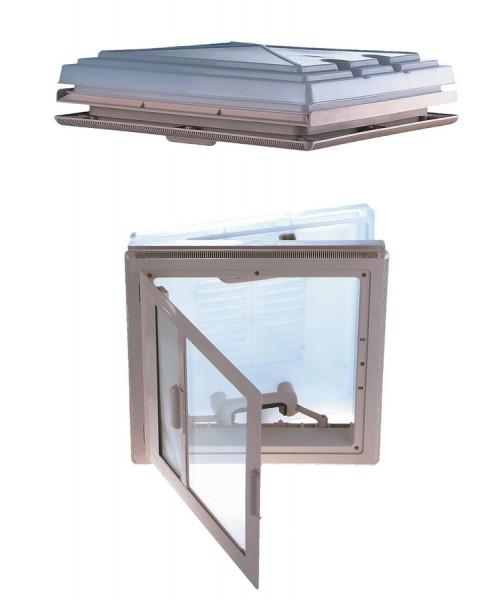 MPK Dachhaube 40 x 40 cm mit Innenrahmen grau