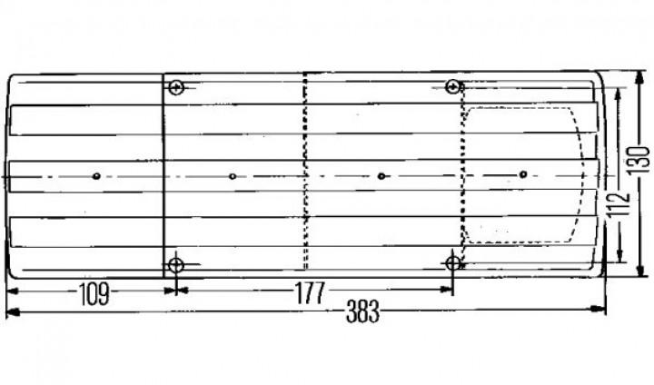 Hella-Schlussleuchte SBBN 380 x 130 mm