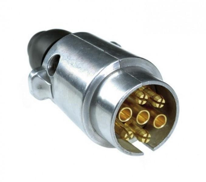 7-poliger Stecker 12 Volt Metall ISO 1724