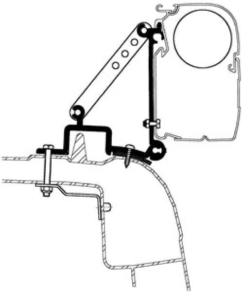 Thule Omnistor Adapter für Renault Master 98