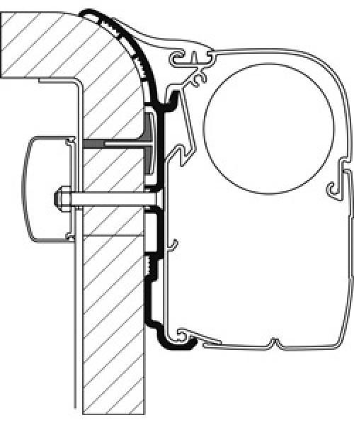 Adapter für Bürstner zu Omnistor-Markisen Serien 5 und 8, Set