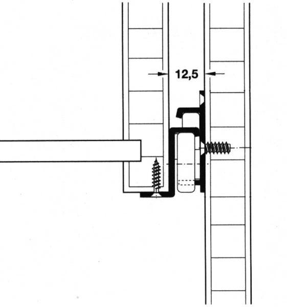 Einfachauszug 350 mm Paar