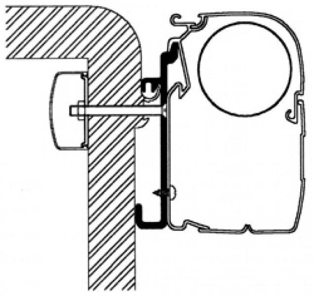 Adapter Rapido Serie 7, 8 für Thule|Omnistor Markisen Serie 5