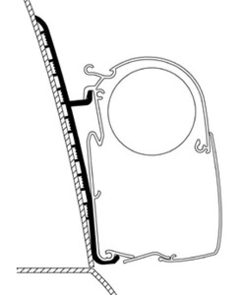 Adapter für Renault Master High Roof zu Omnistor-Markisen Serie 5
