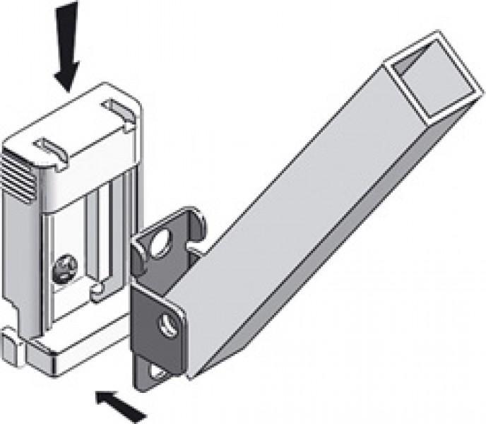 Thule Omnistor Stützfußhalter für Fahrzeugwand 2 Stück
