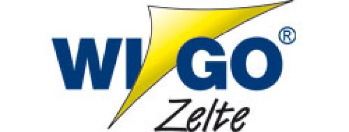 Wigo Seitenwand Standard für Rollmarkise Rolli Premium dunkelblau/weiß