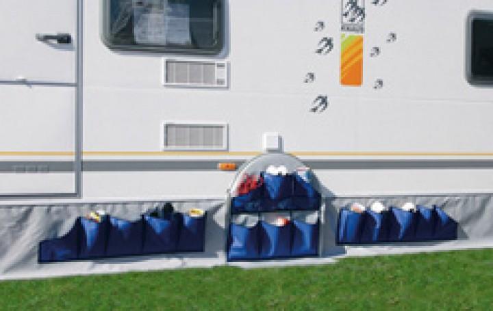 Radausschnitttasche für Knaus 1-Achs-Wohnwagen ab Baujahr 2005