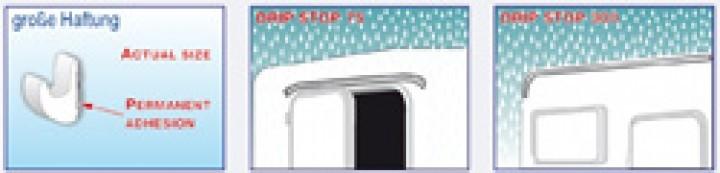 Mini Regenrinne Drip Stop 300 cm lang