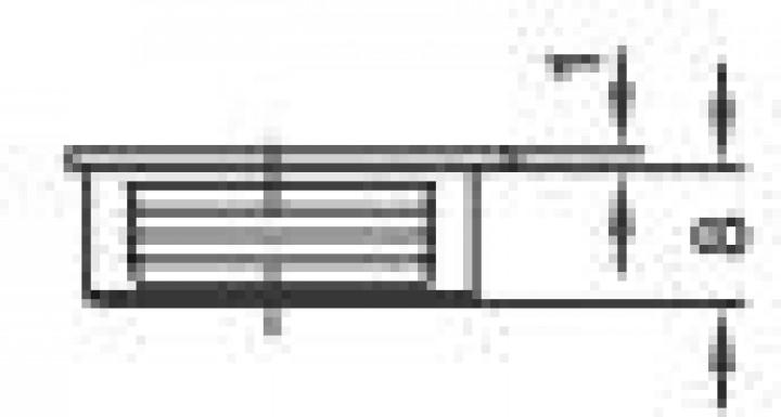 Möbelverbinder PVC 26 x 8 mm beige