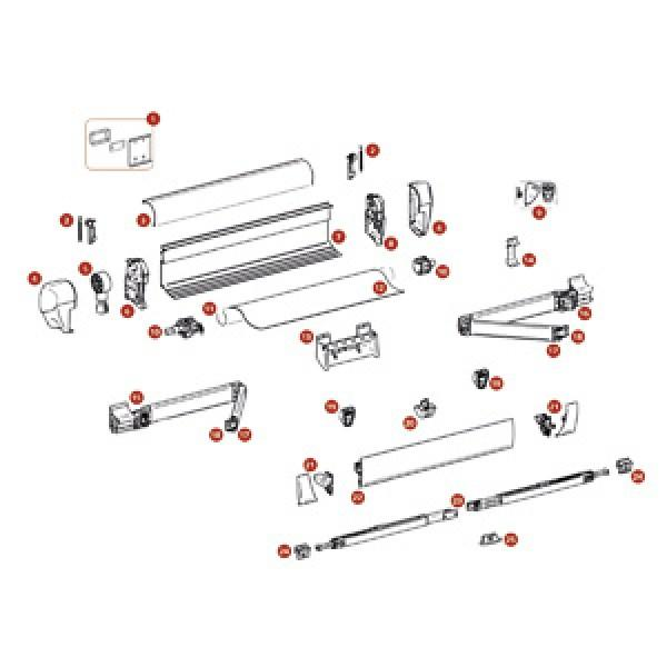 Frontblendenendkappen, weiß, Satz links und rechts