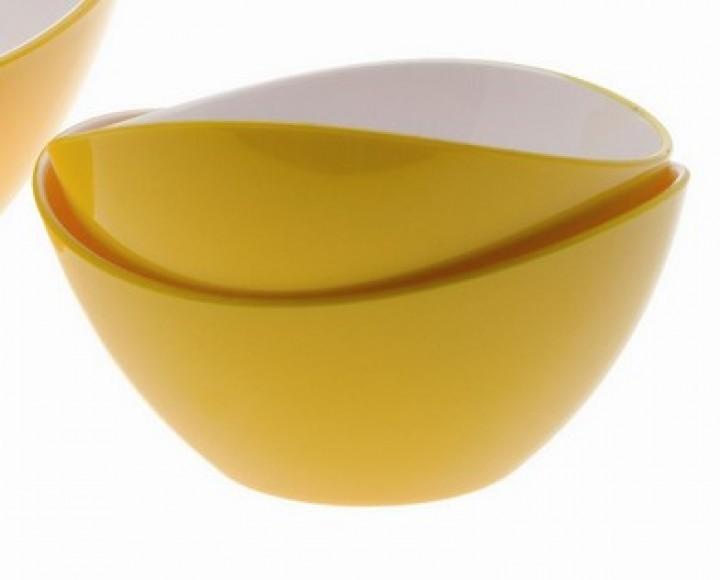Gimex Salatschale klein schwarz gelb