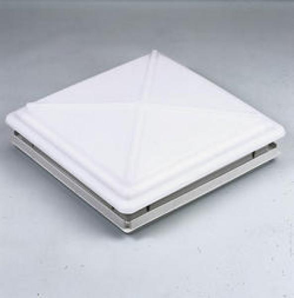 MPK Dachhaube 40 x 40 cm mit Verriegelung und Moskitonetzrahmen weiß