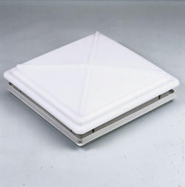 MPK Dachhaube 40 x 40 cm mit Verriegelung Moskitonetz und Rollo weiß
