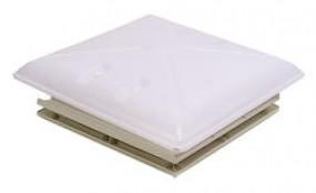 MPK Dachhaube 40 x 40 cm mit Kombi-Rollo Innenrahmen grau