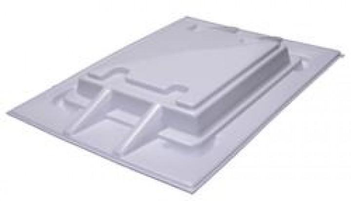 Knaus Dachhaube transparent 860 x 625 weiß