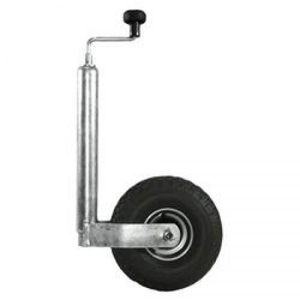 Stützrad mit Rohr und Softgummirad 225 x 70 mm