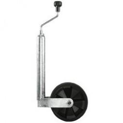 Stützrad mit Rohr und Softgummirad 220 x 70 mm