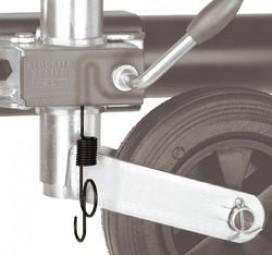 Blockier System für Deichsellaufräder