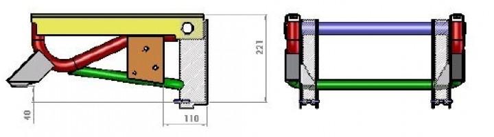 Flacher Sitzkasten Sportscraft für Originalsitze Fiat Ducato ab Baujahr 07/2006
