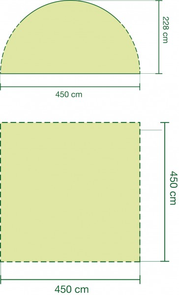 Coleman Event Pavillon 4,5 x 4,5 Meter