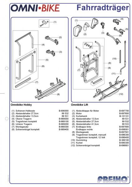 Fahrradträger Thule Omnibike Lift 12 Volt