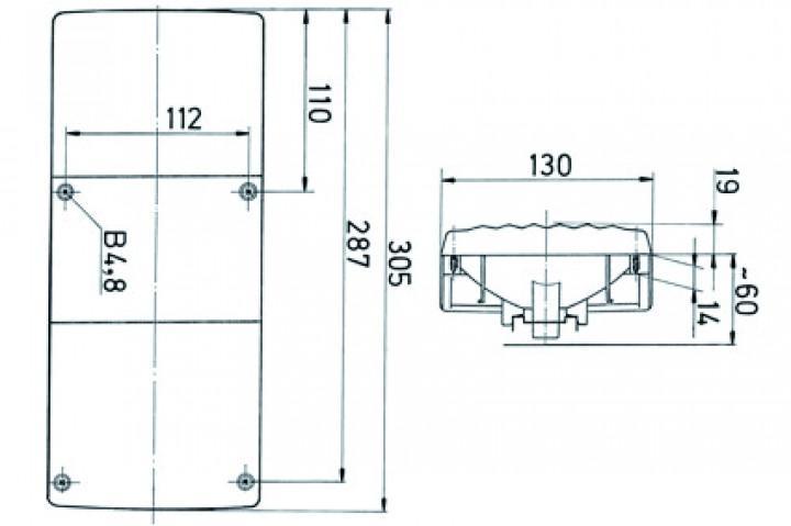 Rückleuchte Jokon BBS 542 305 x 130 mm