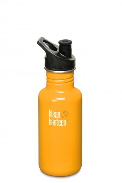 Klean Kanteen Flasche 'Classic' Sports Cap gelb, 0,532 L