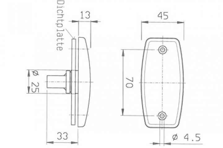 Jokon-Begrenzungsleuchte - Leuchte PLR 1006 9,7 x 4,3 cm