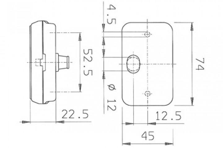 Ersatzglas PL 130 für Jokon Begrenzungsleuchte