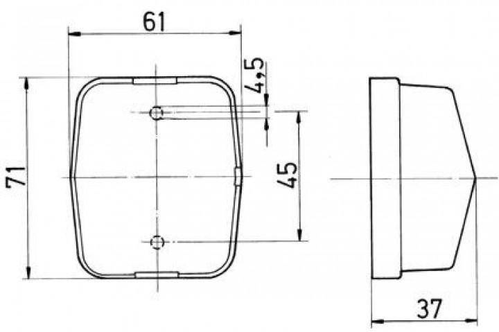Ersatzglas für Jokon-Positionsleuchte