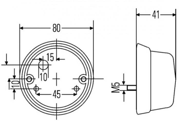 HELLA Positions-Leuchte rund