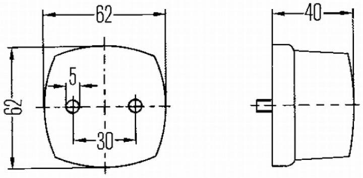 Ersatzglas für HELLA-Positions-Leuchte eckig 140/058