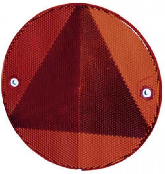 Dreieck-Rückstrahler rot geschraubt