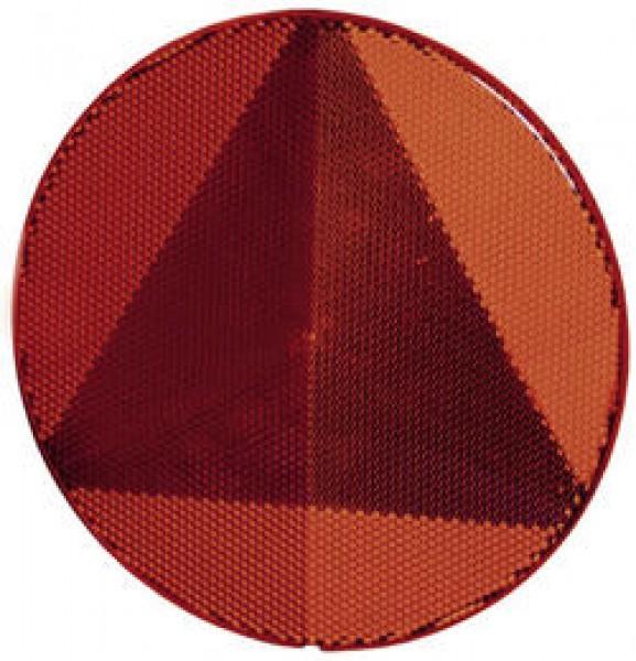 Dreieck-Rückstrahler rot geklebt