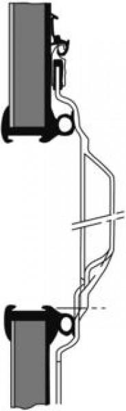 Ausstellfenster ohne Alu-Zierrahmen 1450 x 550 mm