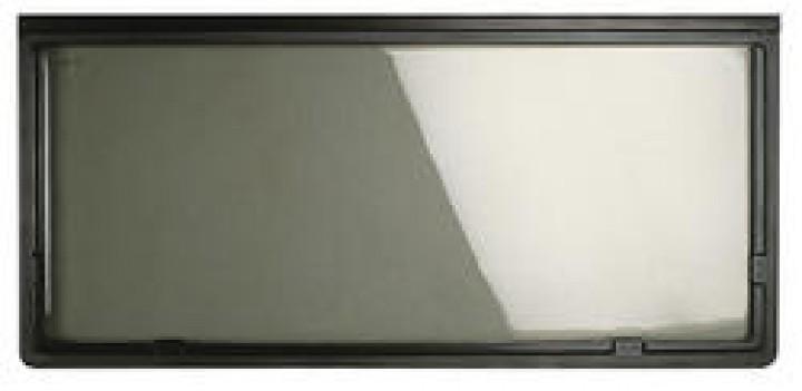 Ausstellfenster mit braunem Zierrahmen 1600 x 550 mm
