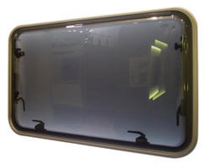 Aluminium-Rahmenfenster Polyvision ohne Innenrahmen 900 x 550 mm