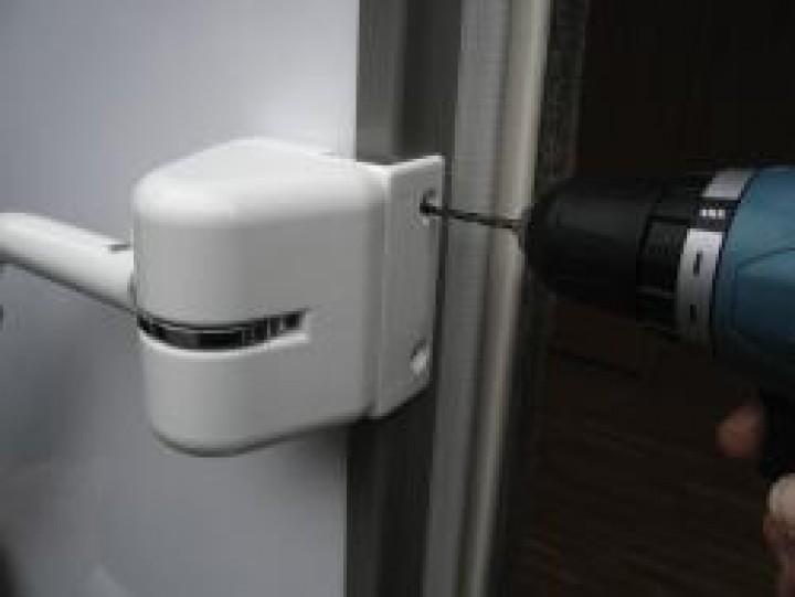 Türrahmenadapter für Security Handrail weiß