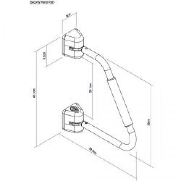 Security Handrail weiß