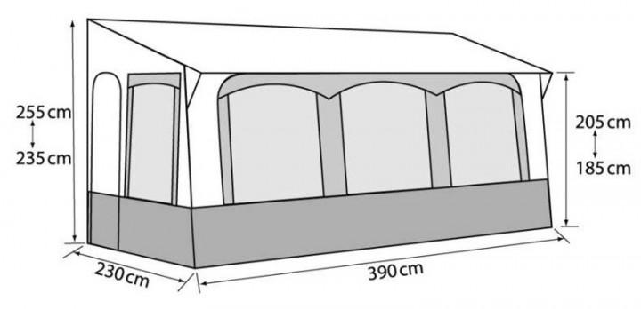 Casa Royal 390 Caravan Teilzelt